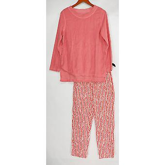 Stan Herman Frauen's Pyjama Sets Baby Terry Top & Lounge Hose rosa A346772