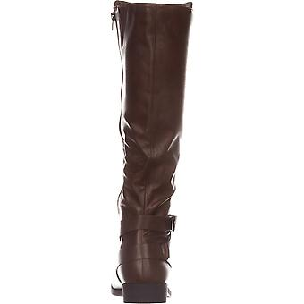 Style & Co. SC35 Madixe Wide-kalf Riding Boots, Cognac, 5,5 ons