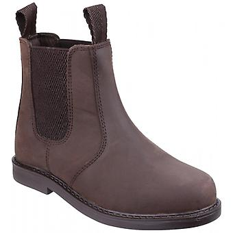 Amblers Camberwell Boys Leather Chelsea Boots Brown