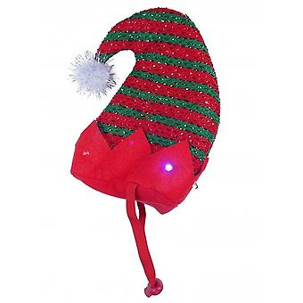 Rosewood Xmas Flashing Elf Hat for Dogs
