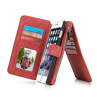 Case For iPhone 6 / 6s Red Multifunction Portfolio