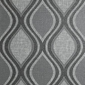 Curve Charcoal Wallpaper Arthouse Heavy Weight Vinyl Textured Paste The Wall