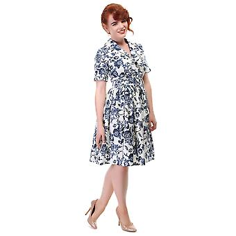 Collectif Vintage Kobiety's Janet Toile Print Shirt Sukienka