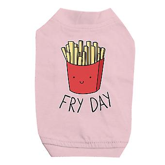 365 Printing Fry Day Pink Pet Shirt for Small Dogs Cute Graphic Tee Shirt Gift
