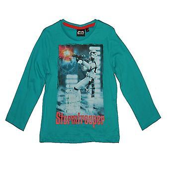 Star Wars T-shirt met lange mouwen - Turquoise 4 jaar