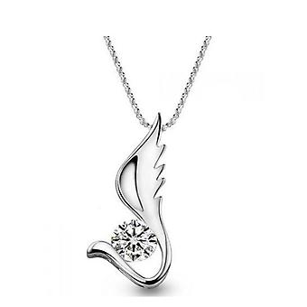 18k white-gold plated liza necklace