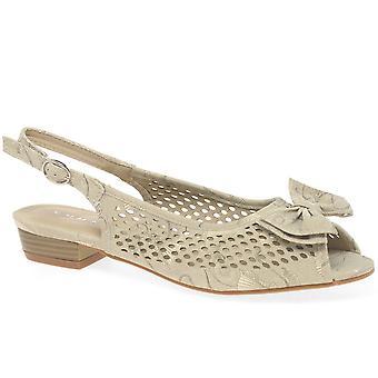 Lunar (GRS) Maine Womens Slingback Peep Shoe Shoes