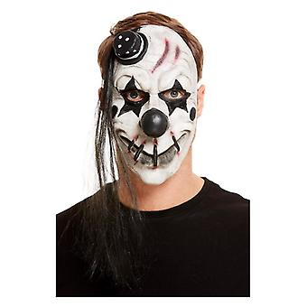 Mens Scary Clown Latex Face Mask Halloween Accessory