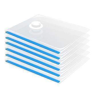 CM-588 Sacs sous vide Sacs d'espace de rangement vides pour les couvertures de literie de vêtements (6 paquets. Petit)