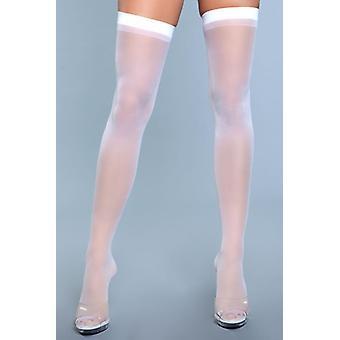 Best Behavior Stockings - White