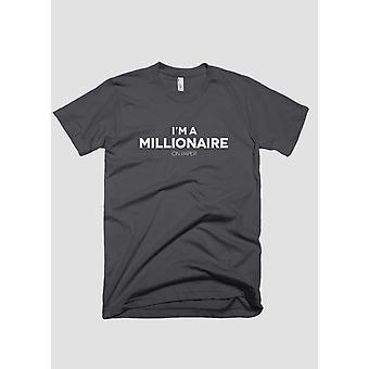 Je m un millionnaire sur papier t-shirt