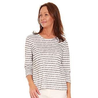 RABE Rabe Grey And White Stripe T-shirt 44 014353