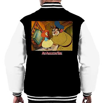 An American Tail Papa Holding Headscarf Men's Varsity Jacket