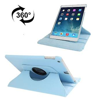 For iPad 2018,2017 9.7in Case,Rotatable Lychee Leather Shielding Cover,Blue