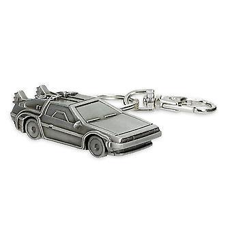 Torna alla futura 3D Keychain DeLorean multicolor, in metallo, tra cui mini moschettone.