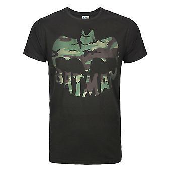 Junk Food Batman Camo Logo Men-apos;s T-Shirt