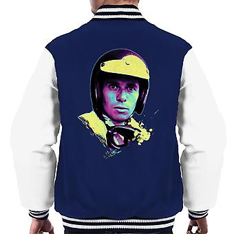 Motorsport Images Jim Clark Portrait Men's Varsity Jacket