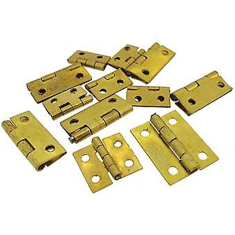 Clock case hinge assorted small 12 pieces