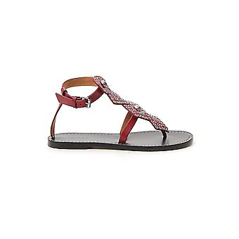 Isabel Marant 20psd051720p012s70rd Women's Red Leather Sandals