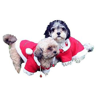 QHP Christmas Dog Coat Red (Dogs , Dog Clothes , Coats and capes)
