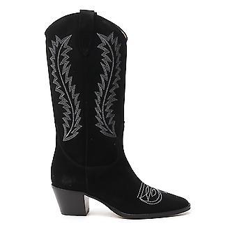 Paris Texas Px143xv003nro Women's Black Leather Ankle Boots