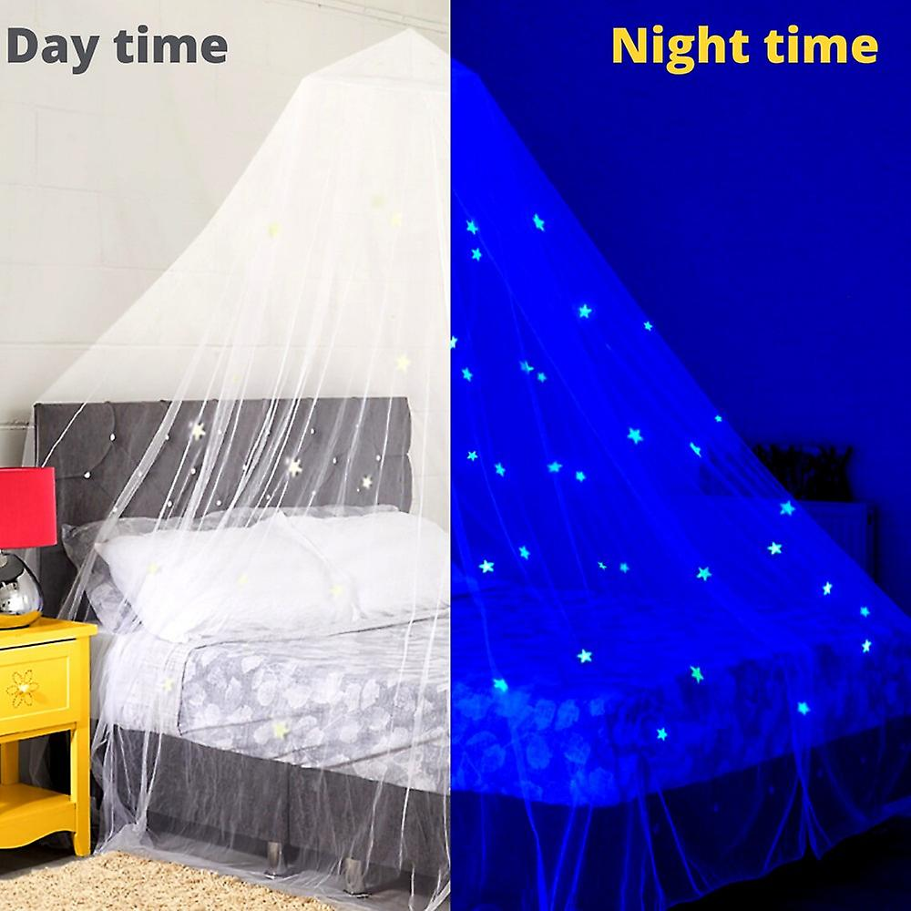 Stars Glow In The Dark Kids Bed Canopy