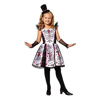 Bristol Novelty Childrens/Girls Skeleton Beauty Costume