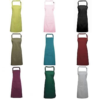 Premier Ladies/Womens Colours Bip Apron With Pocket / Workwear