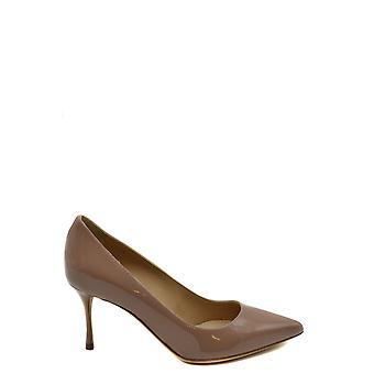 Sergio Rossi Ezbc040017 Women's Beige Patent Leather Pumps