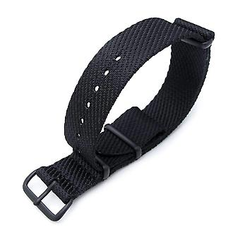 Strapcode n.a.t.o watch strap miltat 20mm g10 military waffle nylon armband, pvd - white