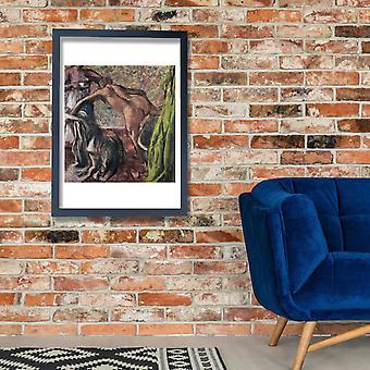 Edgar Degas - café da manhã após o banho Poster impressão giclée