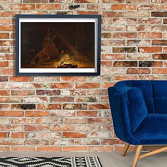 Winslow Homer - Camp Fire Poster Print Giclee