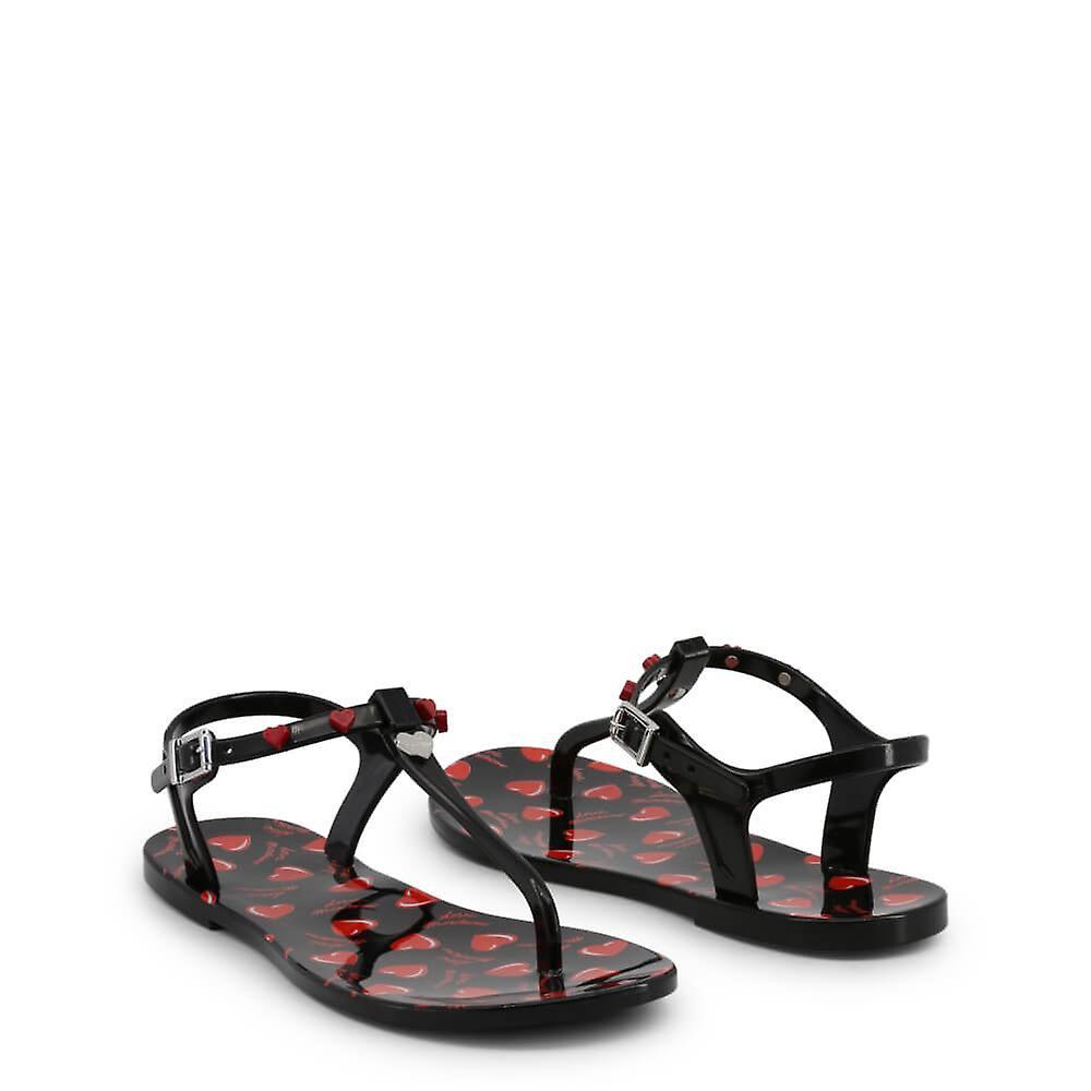 Love Moschino Original Women Spring/Summer Flip Flops - Black Color 33921 Jx4Iao