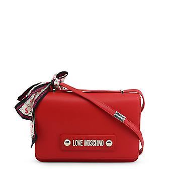 Love Moschino Original Women Fall/Winter Crossbody Bag - Red Color 37076