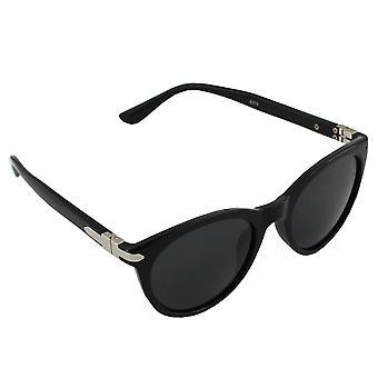 Zonnebrillen Dames Polaroid Wayfarer - Zwart Glanzend met gratis brillenkokerS374_1
