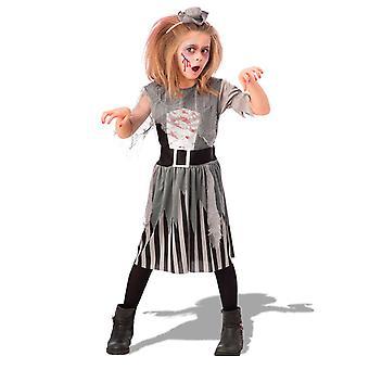 Déguisement zombie pirate grise fille