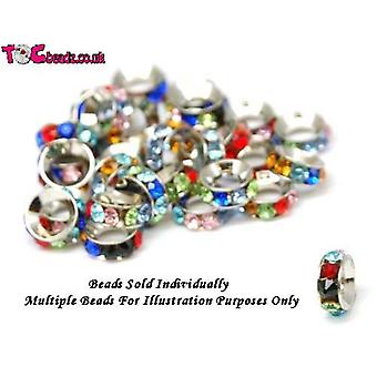 TOC BEADZ Multi Colour Crystal Set 3mm Funky Bead