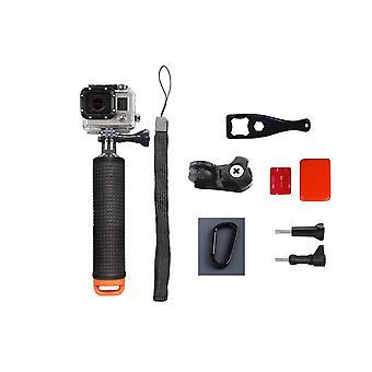 Flydende håndtag handstand til GoPro action kamera-sort/orange
