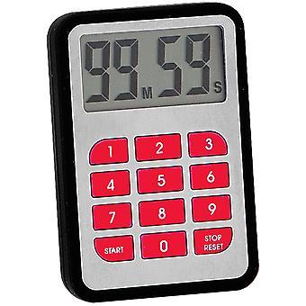 Atlanta 246/7 Short-timer with magnet short-term alarm clock kitchen timer black red