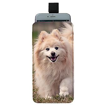 Dog Pomeranian Pull-up Mobile Bag