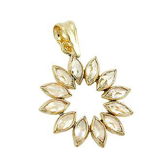Flor de remolque, 12 circones, oro 9Kt