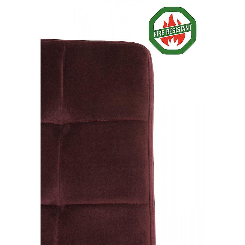 Chaise à manger light & living 57x49x84cm Olive Fr Velvet Bourgogne