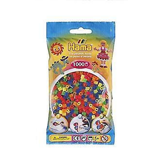 Hama Beads Neon Mix Beads - 1000 Beads