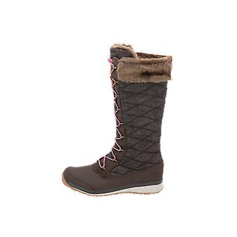 Salomon Shoes HIME HIGH ABSOLUTE Women's Boots Brown Lace-Up Boots Winter