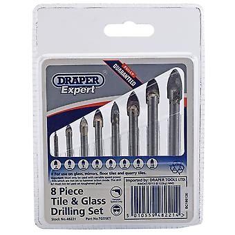 Draper Expert 48221 8-Piece Tile And Glass Drilling Set