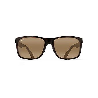 Maui Jim Red Sands Rechthoekige zonnebril - Grijze Schildpad/HCL Brons Gepolariseerd - Medium