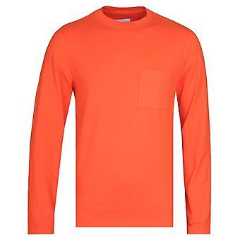 Albam Workwear rot Langarm T-Shirt