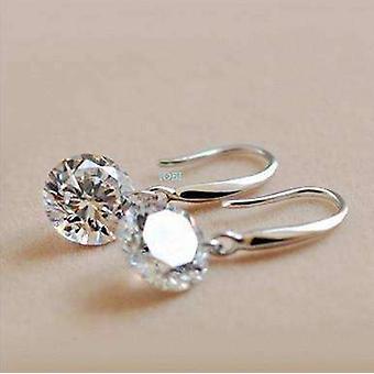 Nagie kryształy iobi wiertła kolczyki w kolorze srebrnym dla kobiety