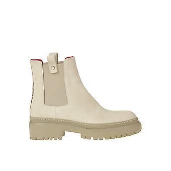 181 Ezgl315017 Women's Beige Suede Ankle Boots