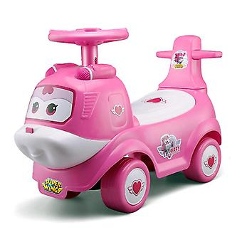 rideontoys4u superwings dazzy pink kids ride on air plane car with music